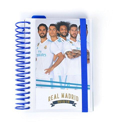 Grupo Erik Editores ADPE1808 - Agenda escolar con espiral en español Real Madrid, 11.4 x 16 cm