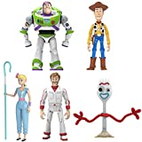 Toy Story Set That Kids Love Deluxe Figure ,Buzz Lightyear Woody Bo Peep Duke Caboom Forky, Children's Plastic Cartoon Character ModelToy, Pack of 5