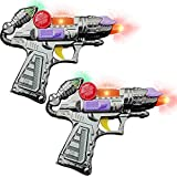 ArtCreativity Ranger Hand-Gun Toy Set with Flashing Lights & Sounds, 2 Cool Futuristic Handguns, Pretend Play Toy Gun, Great Party Favor, Gift for Boys and Girls, Batteries Included- Colors May Vary