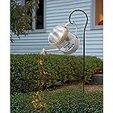 Stern Dusche Garten Kunst Licht Dekoration,Garten LED Licht, Gießkanne besprüht Ihren Garten mit Fairylight,LED Lichterketten Lustige Kunst,38 'LED Stränge,mit Ständer (Schmiedeeisen Kessel- 1)