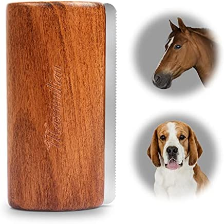 World Class Handmade Deshedding Brush for Dogs, Cats. Undercoat Deshedding Grooming Comb for Large and Small Pets. Best Shedding Tool Effectively and Painlessly Remove 92% of Loose Hair, Fur & Dirt.
