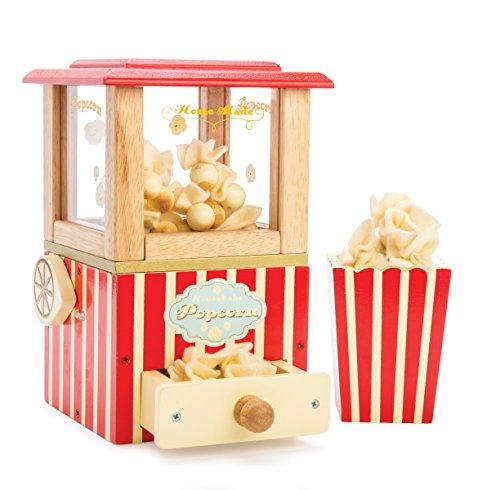 Le Toy Van - Wooden Honeybake Retro Popcorn Machine | Cinema, Kitchen Or Movies Pretend Play | Movie Night Role Kids Play Toy