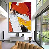 Geiqianjiumai Lienzo óleo Color Moderno Arte Mural salón Pintura Decorativa Pintura Abstracta Pintura sin Marco 90X120cm