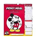 Erik® - Calendario da muro 2020, Disney, Topolino, Mickey Mouse. Presenta planning settimanale con quattro colonne, 16 mesi, 16,5x20 cm, adesivi stickers, lista della spesa e bloc notes