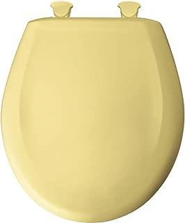 Bemis 200SLOWT 221 Lift-Off Plastic Round Slow-Close Toilet Seat, Creamy Yellow
