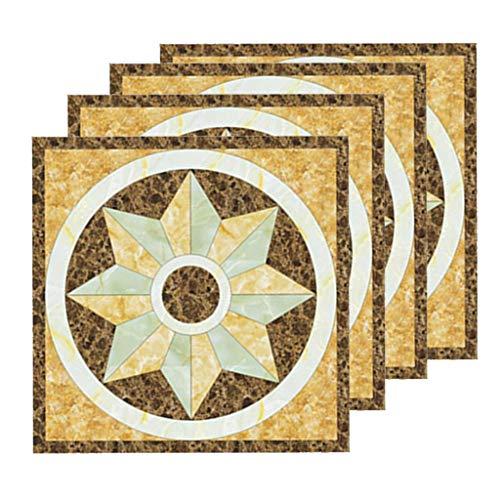 Fenteer Etiqueta Engomada Autoadhesiva de La Pared de La Decoración Casera 40Pcs, Tejas Modernas Los 8x8cm