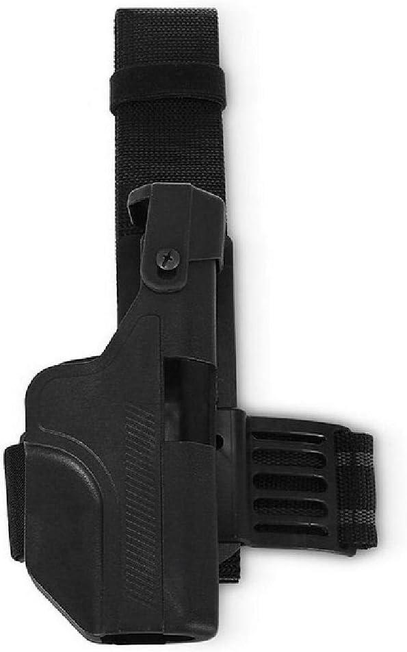 BGJ Caza táctica Militar Glock pistolera Derecha caída cinturón Bloqueo Pistola Airsoft Cintura pistolera para Glock 17 18 19 22