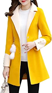 Women's Turn Down Collar Mid Long Slim Single Breasted Trench Coat