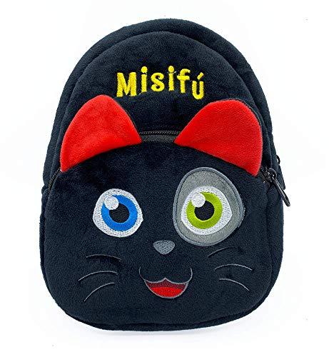 La brujita Tatty Mochila Infantil de Peluche de Gatito Negro Misifú Mascota