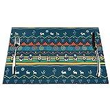 Set di 6 Tovagliette Marina Tessile dei nativi Americani Lavabile Antiscivolo Resistente al Calore per la Cucina e la tavola 45x30cm
