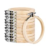 24 Pieces 3 Inch Embroidery Hoop Set Wooden Round Bamboo Circle Cross Stitch Frame Hoop Ring for Embroidery,Cross Stitch and Art Craft Handy Sewing and Home Ornaments(24)