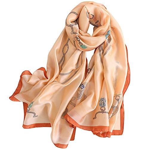 LD Pañuelos Cuello Mujer Seda Imitacion Fulares Satén