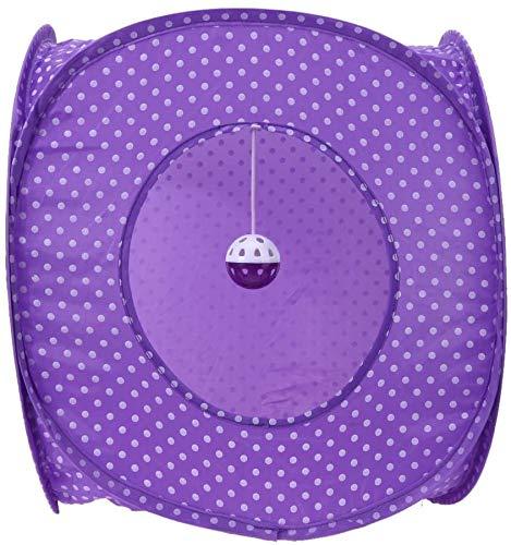 Oxford carpa plegable para mascotas, impermeable, transpirable, perros, gatos, con juguetes, familia, al aire libre, camping,Purple