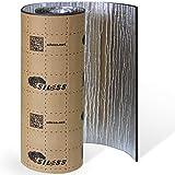 Siless Liner 314 mil 18 sqft Aluminum Foil Finish Car Sound Deadening & Heat Insulation Closed Cell Foam - PE Foam Sound Deadener