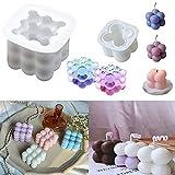 Moldes de fabricación de jabón de vela de silicona de soja 3D Rubik Cube Molde de silicona para fondant para decoración de pasteles Molde para hornear dulces de chocolate para decoración de fiestas