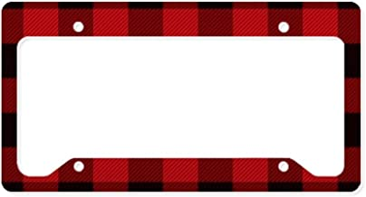 CafePress Cottage Buffalo Plaid Lumber Aluminum License Plate Frame, License Tag Holder