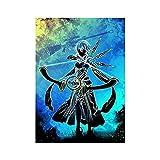 Acuarela anime japonés dibujos animados manga personaje arco y flecha tirador lienzo pintura pared arte cartel niño ventiladores dormitorio sala de estar decoración del hogar mural