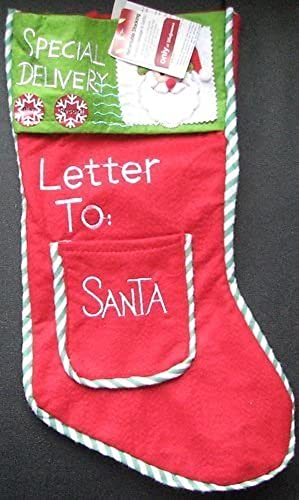 Letter to Santa Special Delivery Recordable Christmas Stocking by East West Distributing