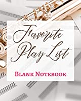 Favorite Play List - Blank Notebook - Write It Down - Pastel Rose Gold Brown - Abstract Modern Contemporary Unique
