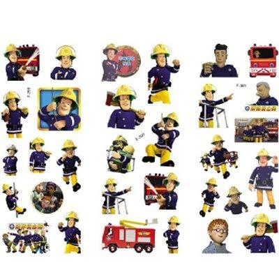 BLOUR Brandweerman Sam Sticker voor kinderen hoofdmuurdecoratie schattige cartoon Mini 3D schuim sticker Kawaii Sticker Doodle 3 bladeren/Set