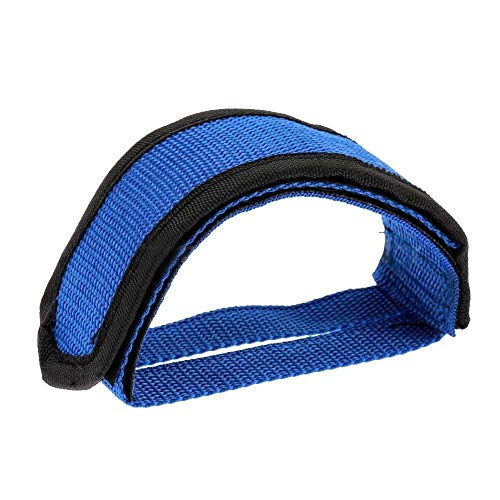 2 PCS Bicycle Pedals Bands Feet Set with Anti-Slip Straps Beam Foot Toeclips Bike Pedals (Color : Blue)