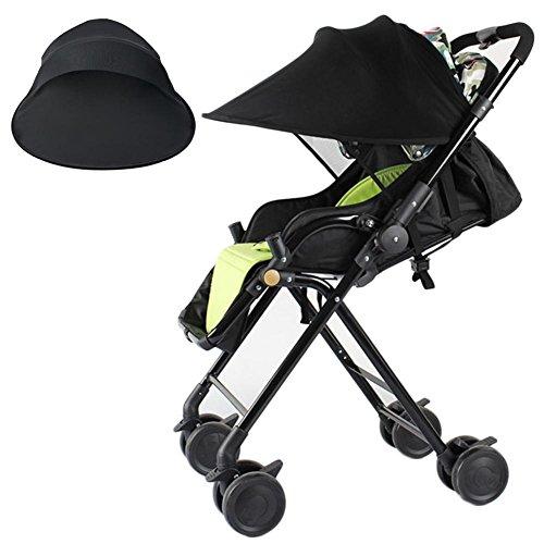 Starter Pare-soleil poussette, bébé tissu anti-UV Rayshade poussette couverture coupe-vent imperméable à la pluie protection contre le soleil parapluie auvent abri accessoires universels