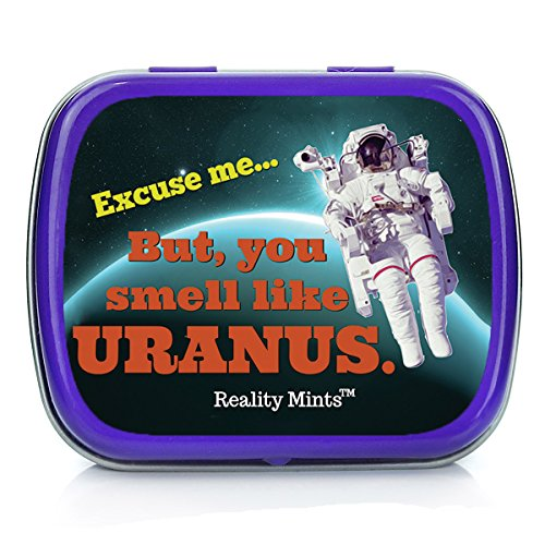 Gears Out You Smell Like Uranus Mints Weird Gag for Friends Men Stocking Stuffers for Adults and Teens Cool Space Novelties for Guys Chocolate Breath Mints Father