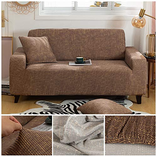 Funda de sofá a Cuadros Funda elástica Fundas de sofá para Sala de Estar Esquina sofá Toalla Funda de sofá Protector de Muebles A26 3 plazas
