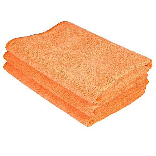 Cosey - 3er Pack, Haushalts- und Putztuch, 40x40cm orange
