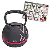 GYMBOX® Bolsa de Arena/Pesas Rusas/Kettlebell/Fitness Bag/Power Bag | Entrenamiento Muscular/Funcional/de Pesas Libres | Puede Estar llenado con Arena | Negro, 4 kg | vacío