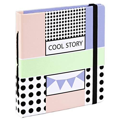 Hama Polaroid Fotoalbum für Instax Mini (Einsteckalbum für 28 Sofortbilder, Album zum selbstgestalten) Pastell