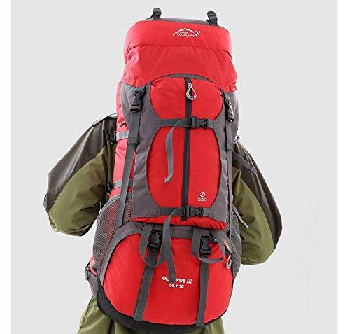 Professionnel en plein air, randonnée sac à dos voyage sac 80L litres capacité sacs à dos sac à dos team , red