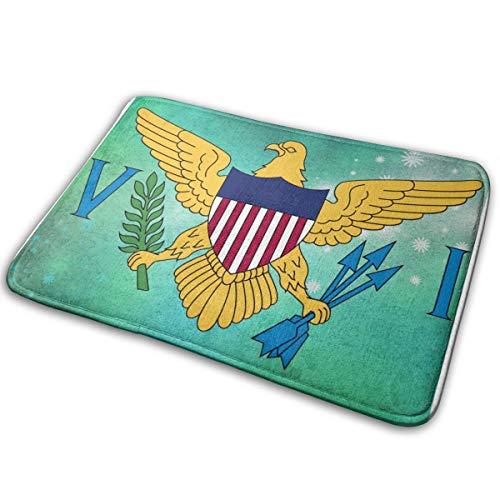"""Abigails Home Bandera de Las Islas Vírgenes de los EE. UU. Alfombra Alfombra Felpudo Baño Cocina Antideslizante Entrada Interior 15.7""""x23.5"""