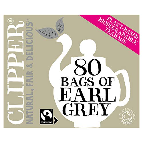Clipper Organic Fairtrade Everyday Earl Grey 80 Teabags 200 g (Pack of 6)...