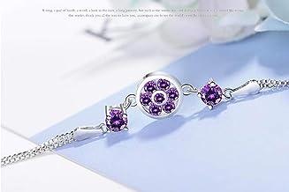 HXML Orn/é De Cristaux D/él/éments Swarovski Le Cristal Chaine De Cheville Bracelet De Cheville en Argent Sterling 925
