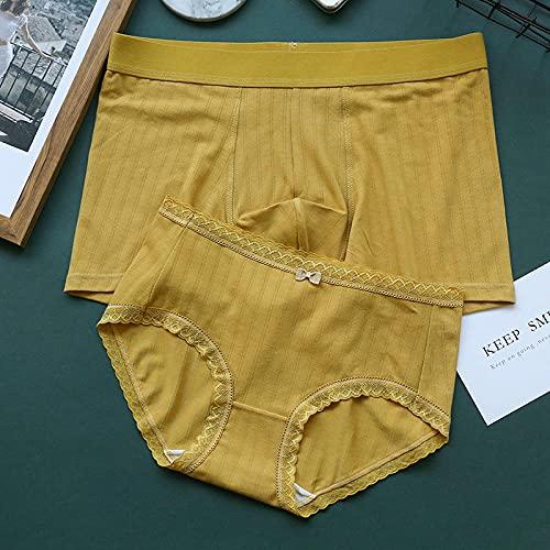 Yumanluo High Rise Women Briefs,Couple modal panties, mid-waist cotton antibacterial-turmeric_XL (Weight: 60-70kg),Womens Menstrual Period Underwear