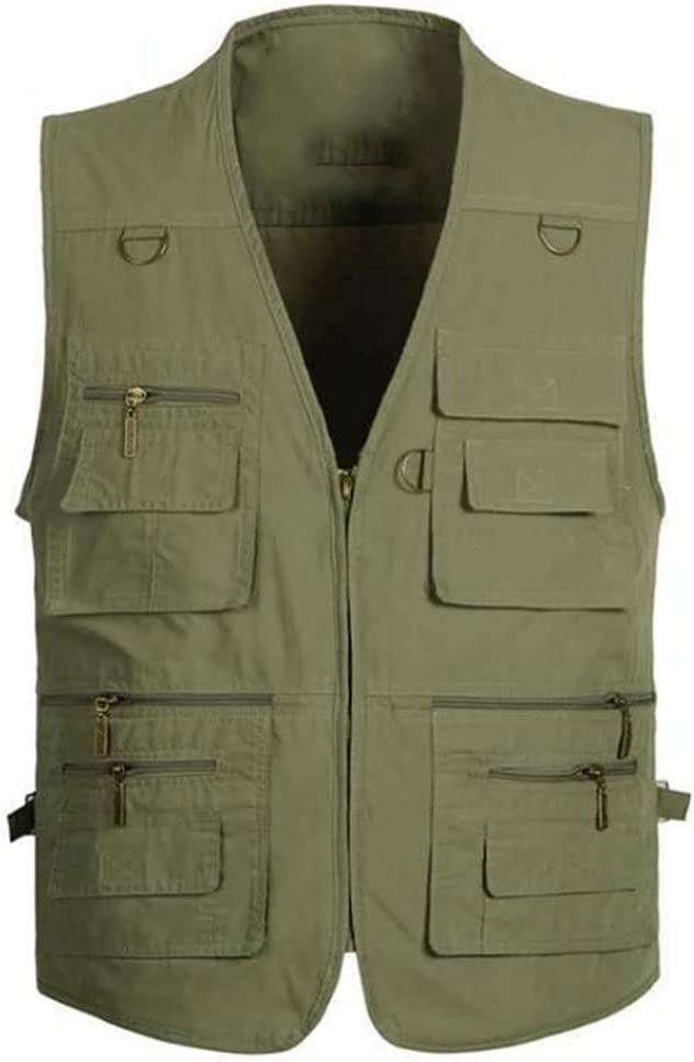 Fishing Vests Miami Mall for Men Vest Outerwear Multi Pocket Max 79% OFF S