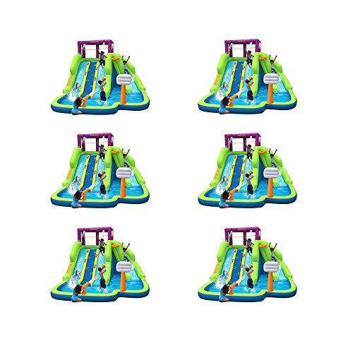 Purchase Kahuna Triple Blast Kids Inflatable Splash Pool Backyard Water Slide (6 Pack)