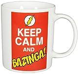 Big Bang Theory 'The 0122071Tazza di caffè Keep Calm And Bazinga, 320ml, Porcellana, Bianco