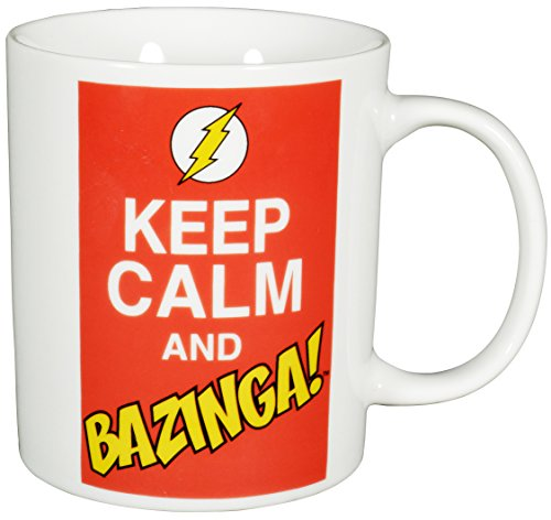 "Big Bang Theory The Keep Calm and Bazinga"", Porzellan, 320ml – 0122071 Kaffeetasse, weiß, 1 Stück (1er Pack)"