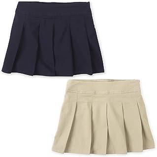 The Children's Place girls Uniform Pleated Skort 2-Pack Skort
