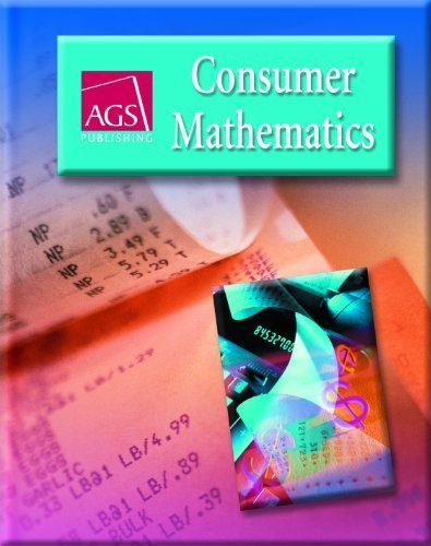 Consumer Mathematics Student Text By Ags Secondary 2006 Hardcover