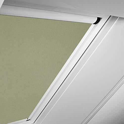 Roto Original Verdunkelungsrollo ZRVM für 734/735/738, Fenstergröße 11/14 in der Stofffarbe 1-V04/braunbeige, WDF KAW KEW Rollo Rollos