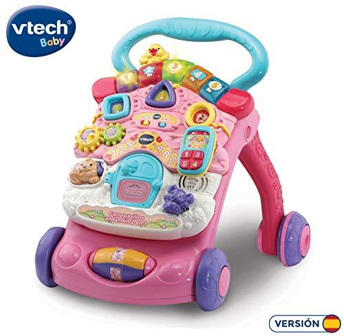VTech - Correpasillos Andandín 2 en 1, Diseño Mejorado, Andador Bebé InTeractivo Plegable y Regulador de Velocidad, Color Rosa (80-505657) , color/modelo surtido