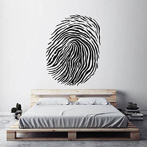 sanzangtang Moderne huisdecoratie vingerafdruk schimmel vingerafdruk gerechtelijke wetenschap muur decal woonkamer kunst muur stickers slaapkamer muurschildering