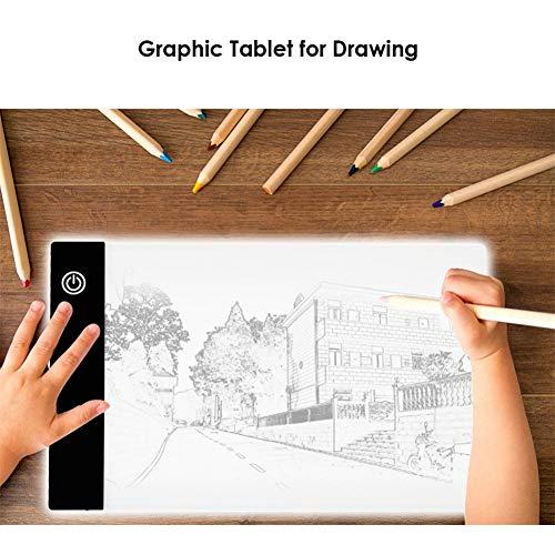 GRASSAIR A4 LED-Zeichenbretter Light Pad Copy Board 3 Grafiktabletts mit Einstellbarer Helligkeit Elektronische Malerei Schreibtisch für Künstler Zeichnen Animation Skizzieren Entwerfen