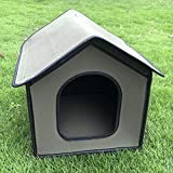 FYBlossom Cat Cave Pet House Shelter Outdoor,Kennel Water Resistant Weatherproof Cat House Foldable Pet Shelter for Pets (Silver,L)
