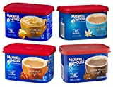Maxwell House International Fall Flavors with Suisse Mocha Cafe | Instant Flavored Coffee Variety Pack, 7-9 oz Canisters, (4 Pack)