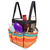 Portable Mesh Shower Caddy Tote, Toiletry Bathroom Organizer, Shower Tote Bag with 8 Storage Pockets