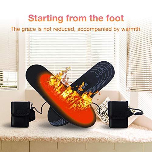 Fancylande Elektrische verwarmingszool, 3,7 V, met verlengkabel voor dames en heren, hoge hakken, lage schoenen